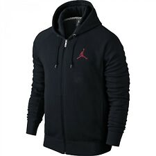 NIKE AIR JORDAN JUMPMAN BRUSHED FULL ZIP HOODIE BLACK 845861-010 MENS SIZE XL