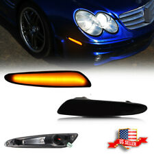 Amber Led Front Bumper Side Marker Light For 2003 2006 Benz W211 E Class Smoked