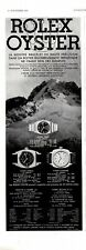 Original French Vintage Advert Ad - ROLEX - Watch Oyster Standard Imperial 1933