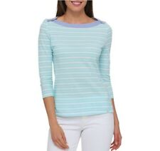 Tommy Hilfiger Womens Blue Striped Boat-Neck 3/4 Sleeves Casual Top 3X SislouX16