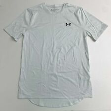 Under Armour Athletic T Shirt Mens SM White Knit Crew Neck Short Sleeve Loose