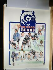CHICAGO BEARS 1985 S/N LITHOGRAPH w/PAYTON (1985 International Galleries Ltd.)
