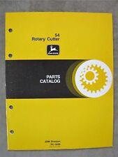 John Deere 54 Rotary Cutter Mower Parts catalog Manual ORIGINAL