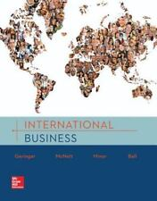 INTERNATIONAL BUSINESS by Geringer, McNett, Minor and Ball, 1st Edition 2016