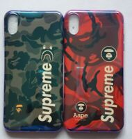 A Bathing Aape Bape Shark Camo Case For iPhone XS MAX XR X 8 7 Plus SUP Cover