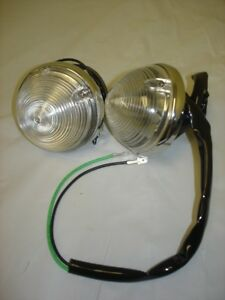 1955 1956 1957 Chevy Pickup Truck Clear Parking Lamp Assembly PAIR