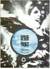 """1972 David Bowie """"Space Oddity"""" Song Release Music Industry Promo Ad Reprint"""