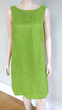 Green Lilly Pulitzer Lace Crochet Shift Dress, Sleeveless, Size 8, EUC