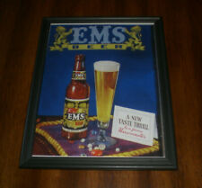 Ems Beer Framed Color Ad Print - A New Taste Thrill