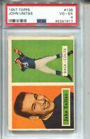 1957 Topps Football #138 John Johnny Unitas Rookie Card RC Graded PSA VG EX 4