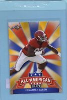 2017 Leaf Draft Rookie Jonathan Allen All-American Gold Redskins INV0082