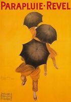 Art Print POSTER / Canvas Parapluie Revel Leonetto Cappiello Vintage Advertising