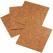 "Quartet Bulletin Boards Cork Tiles Natural 12"" X 12"" Frameless Mini Wall 4 Pack"