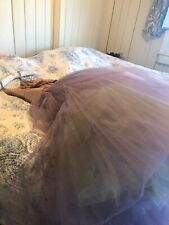 New listing Vintage Frothy Satin & Tulle Prom Garden Party Gown Lavender Rose & Lime Dress