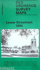 Old Ordnance Survey Map Lower Streatham nr Merton  London 1894 Sheet 143 New