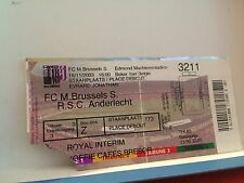 Football Ticket - FC M Brussels S - RSCA Anderlecht - 2003