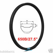 27.5er 650B 35mm width mtb carbon rims mountain bicycle rim tubeless compatible