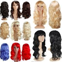 Cheap Wholesale Halloween Costume Wig Curly Wave Straight Colorful Full Wigs USA