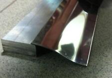 Profilo Acc. Inox lucido c/pelabile per parquet pavimento laminato flottante mt1
