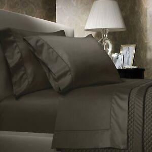Ralph Lauren 624 Solid Sateen King Pillowcases $145  Metropolitan Grey