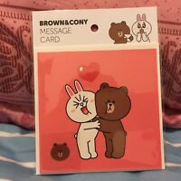 Korea LINE Friends Brown Cony Love Message Card Mascot Gift