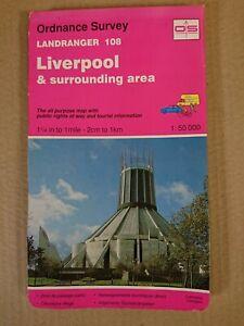 Landranger 108 Map Liverpool O S Ordnance Survey 1994