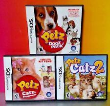 Petz Dogz Pack, Catz Playground, Catz 2  - Game Lot Nintendo DS Lite 3DS 2DS