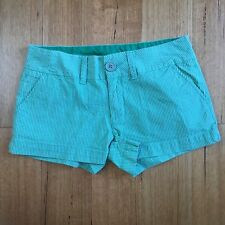 Guess Striped Green Casual Summer Shorts Size 26