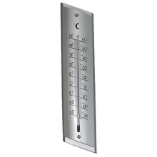 Holman 23cm Aluminium Wall Thermometer Indoor/outdoor - Mercury