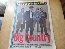MELODY MAKER 20/10/84 BIG COUNTRY,AFRIKA BAMBAATAA,FALL,IRON MAIDEN,DAINTEES.