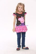 NEW with tags BNWT girls Peppa pig character dress tunic stripe size 4