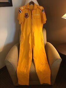 VTG USAF Udorn Maharaja Vietnam Yellow Flight Party Suit Medium
