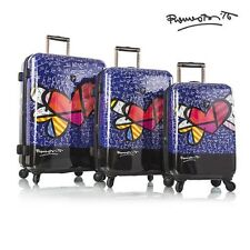 """Heys Britto Hearts with Wings 3-Pc Set Spinner luggage Set 21""""24""""30"""""""