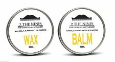 2 The Nines™ Salon 30ml Moustache Wax & 30ml Beard Balm - Vanilla & Mango Kit