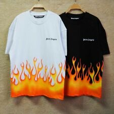 Palm Angels 20ss Flame Print Short Sleeve T-shirt Men Cotton T-shirt  A754