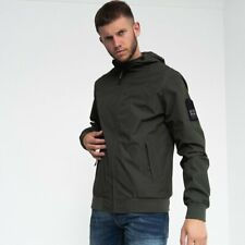 Duck and Cover - Breton Hooded Mens Water Resistant Bomber Style Raincoat Jacket