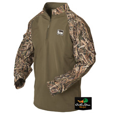 NEW BANDED GEAR L/S ¼ QUARTER ZIP UTILITY SHIRT SHADOW GRASS BLADES CAMO SMALL