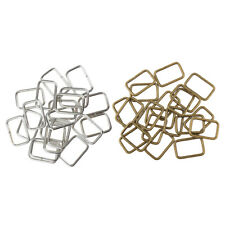 40Pcs Retro Silver Bronze Rectangle Ring for Ribbon Webbing Belt Buckle Bag