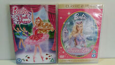 Barbie DVD's - Swan Lake & The Pink Shoes, both Region 2