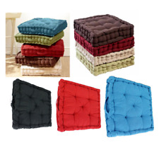 100% Cotton Luxury Booster BOX Seat Thick Cushion Chair Armchair Sofa 10 Colors