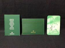 + Calendar Card Set + Free Shipping Rolex Original Card Holder + Cert booklet
