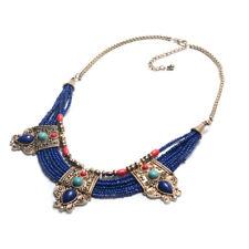 Schmuck Antiker Stil Tibetische Halskette aus Nepal handgemacht blaue Perlen