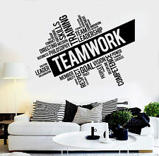 Vinyl Wall Decal Teamwork Success Office Decor Worker Stickers (ig4152)