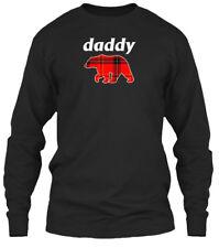 Mens Daddy Bear Red Plaid - Gildan Long Sleeve Tee T-Shirt