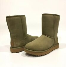 UGG CLASSIC SHORT II BOOTS ANTILOPE GREEN SHEEPSKIN WATER REPELLENT -US 7 -NIB