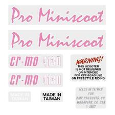 1987 Mongoose Pro Miniscoot Decal set - pink