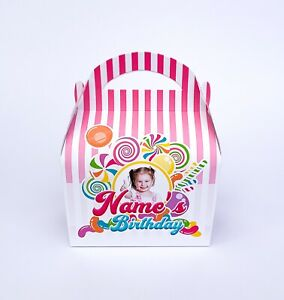 Photo Candyland Sweets Candy Children's Personalised Party Boxes Favour