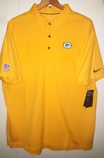 NFL Green Bay Packers Nike Jersey Polo Shirt Men Size 3XL NWT $85.00 Yellow