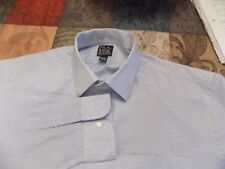 JOS A BANK SHIRT TINY BLUE & WHITE CHECK SIZE 16.5/36 DRESS/CASUAL