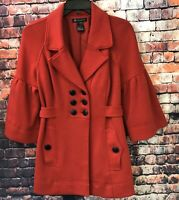 I.N.C. International Concepts Women's Cotton Blend Jacket Coat Blazer Red Sz M